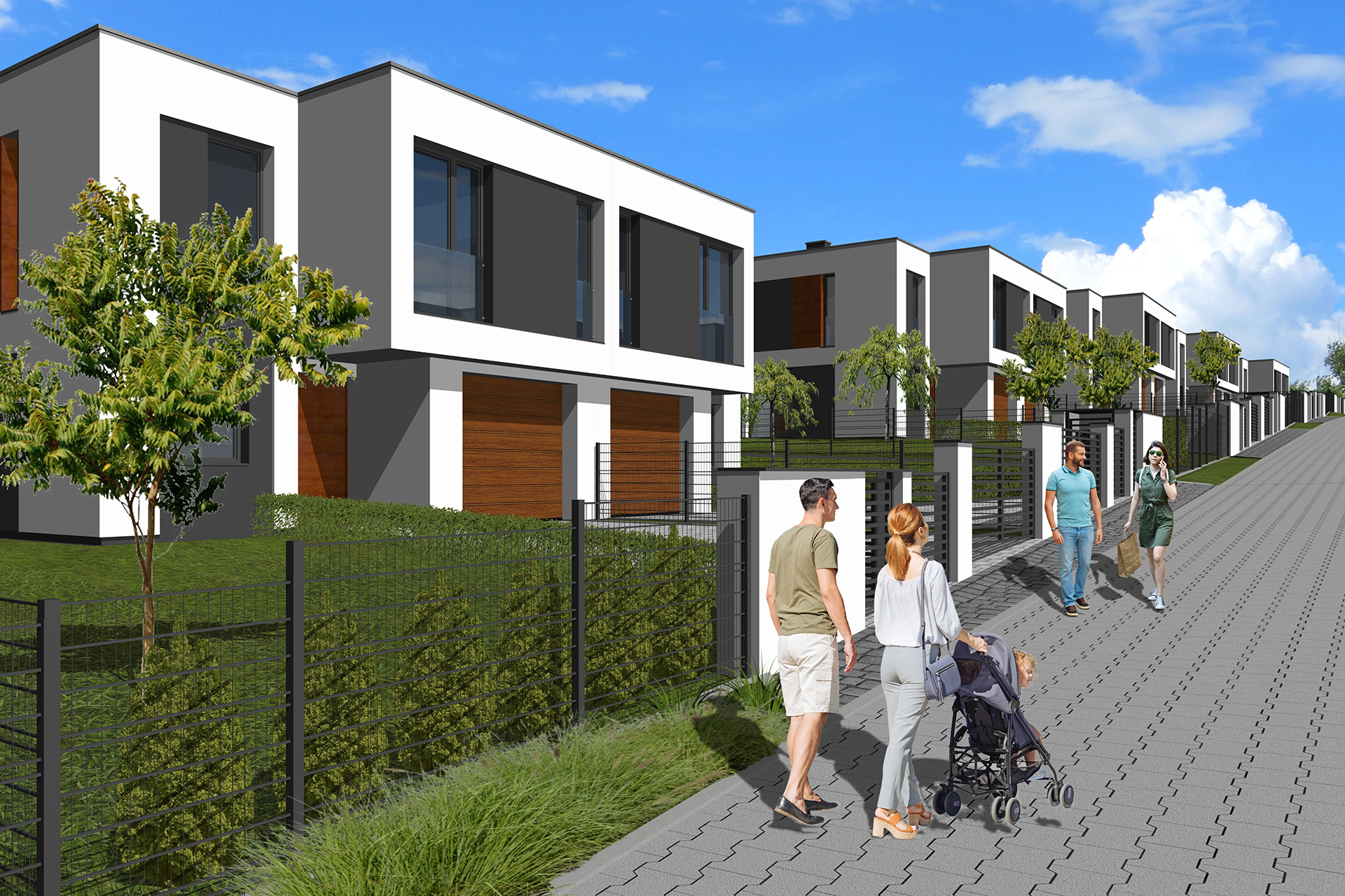 Wizualizacja nowe domy