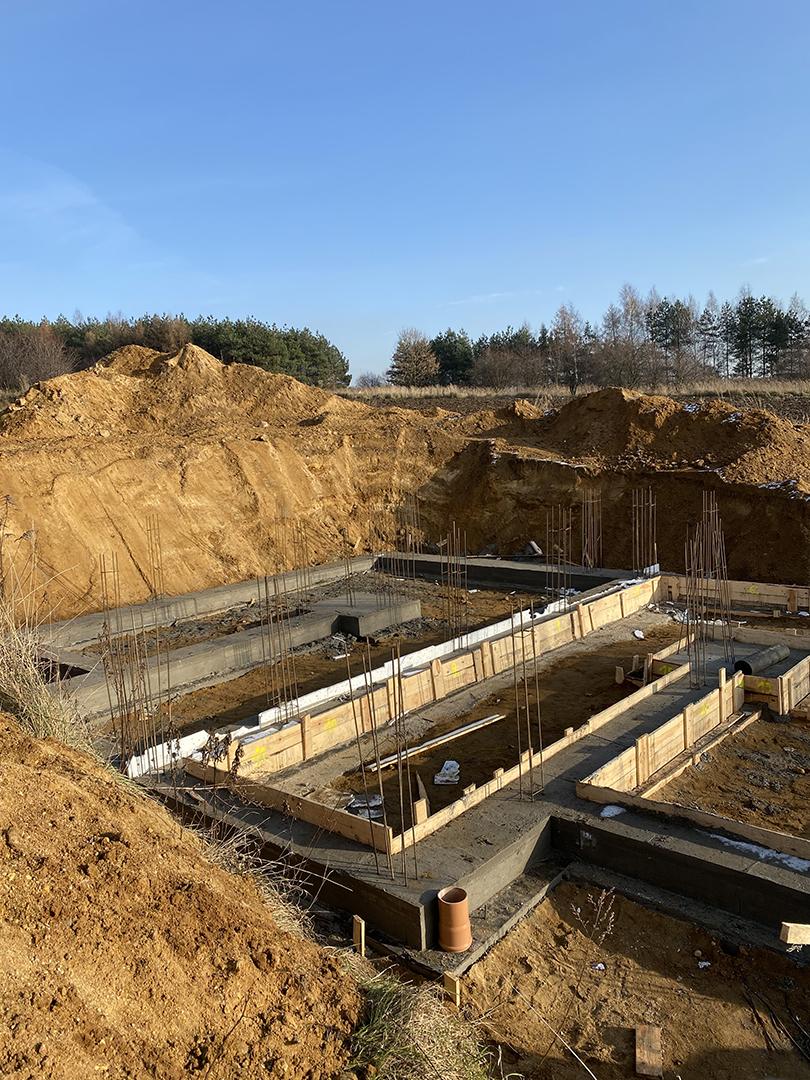 Budowa fundamenty dom