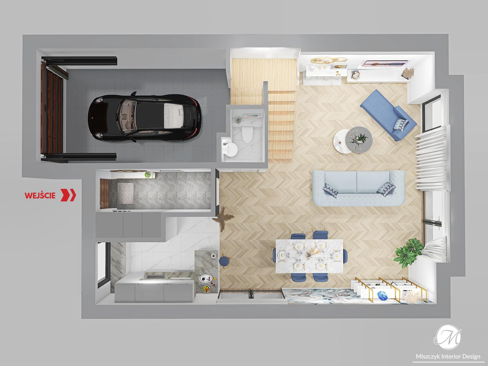 projekt domów bliźniaczych wersja B