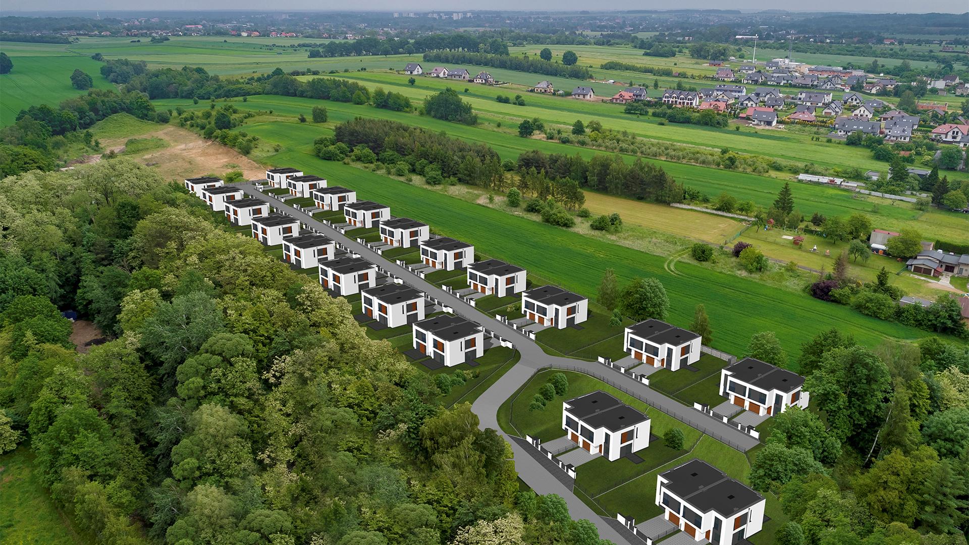 Nowe osiedle domy bliźniacze